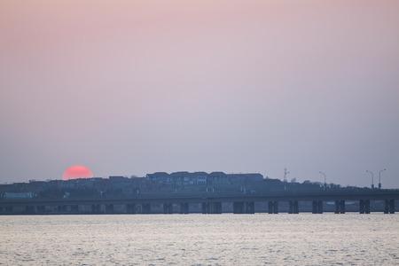 sunsets: Sunsets and Bridge at dusk