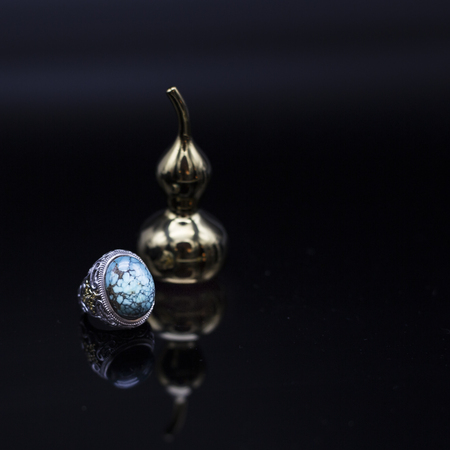 hoist: Turquoise rings and hoist