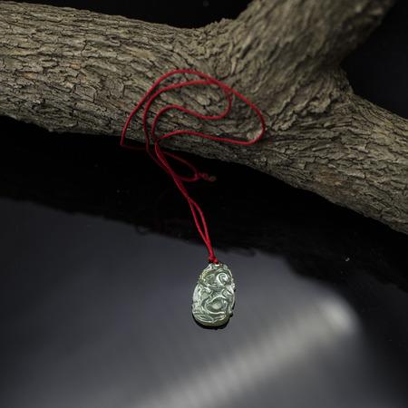 coral bark: Jade pendants Stock Photo