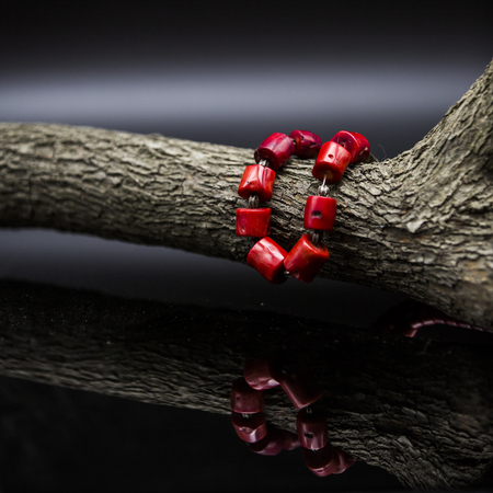 coral bark: Red fashion luxury necklace