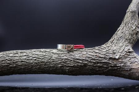Red bracelet Editorial