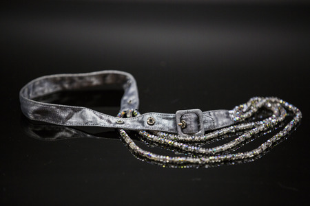 diamond necklace: Diamond necklace with belt Stock Photo