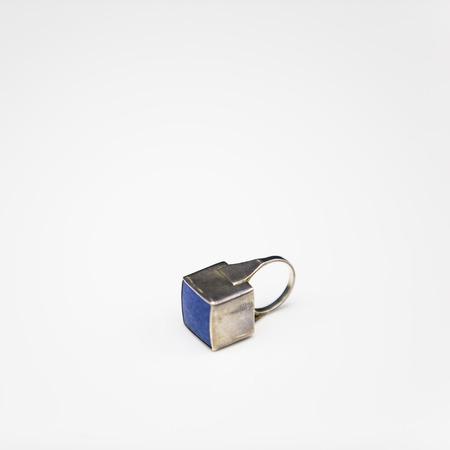 zafiro: anillo de zafiro turquesa Foto de archivo