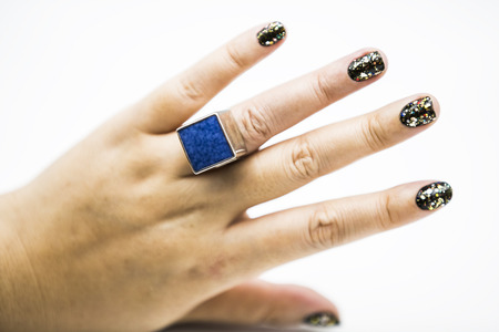 sapphire: Sapphire ring Stock Photo