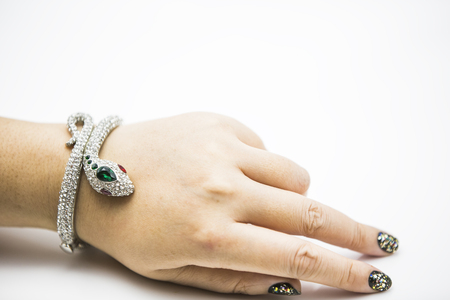 lady hand: Snake bracelet