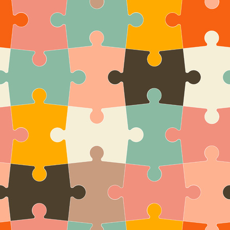 stroking: seamless pattern of puzzle in a flat style Illustration