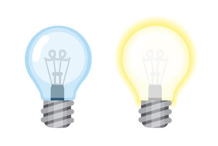 Blue and yellow bulbs 版權商用圖片 - 74696172