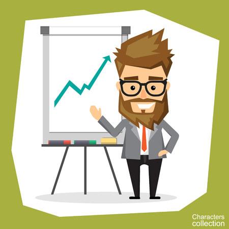 file clerk: presentation on flip chart paper