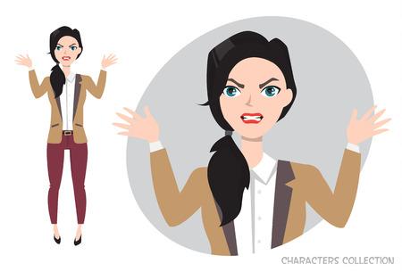 Angry Woman. Illustration