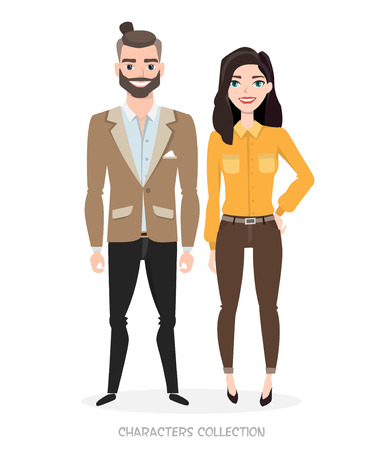 religious clothing: Man and woman in business style Illustration