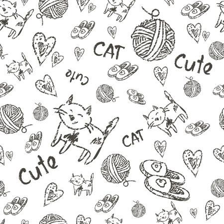 seamless background cat