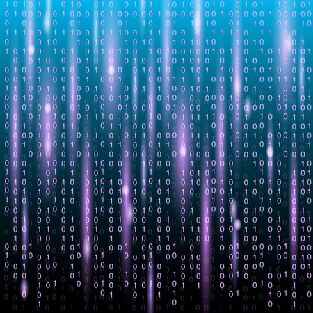 Binary code digital technology background. Abstract Technology Background.