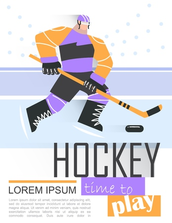 Professional hockey player skating on ice. poster, banner