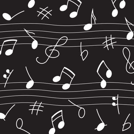 Music background with notes and symbols, Musical Signs. Minimalistic Simple Background.