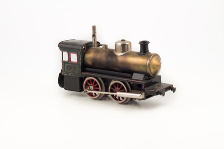 Isolated antique train locomotive model