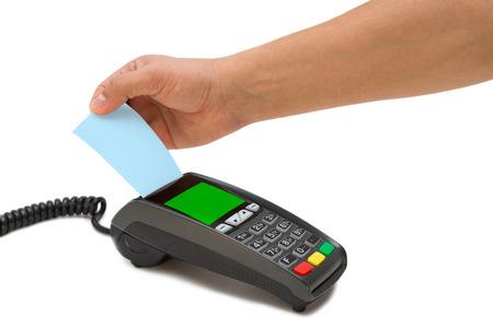 Credit card terminal photo
