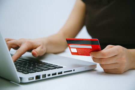 Paying with credit card online photo
