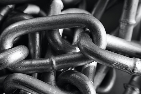 metal: Links of metal chain