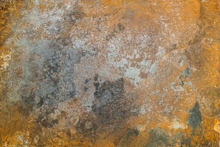 Textured metal surface with detailed traces of corrosion, rust and scratches Stock Photo