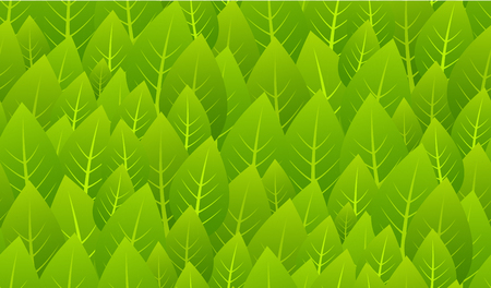 Fresh Green Leaves seamless pattern