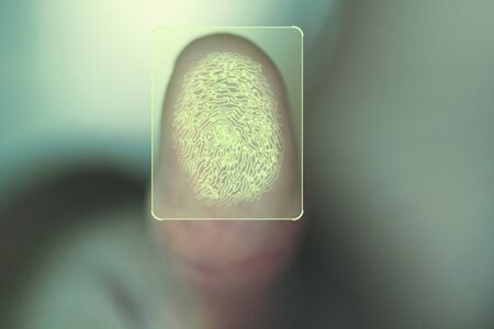 Concept for personal and corporate security using biometric identity fingerprint scan.