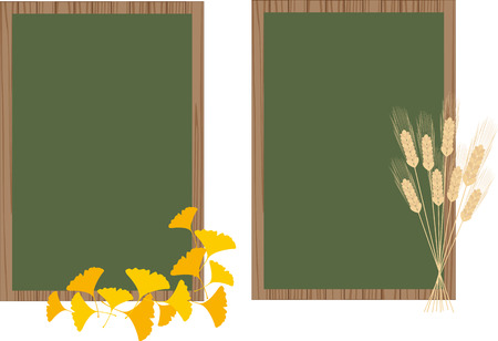 black board with leaves