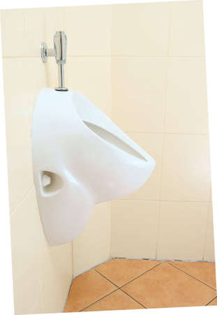 white urinal, pissoir on wall  photo