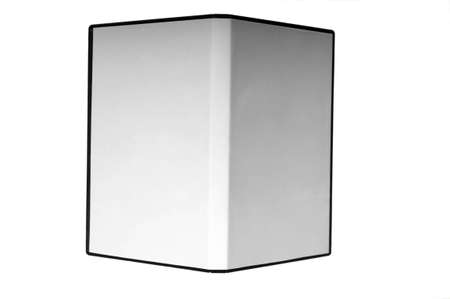 dvd case: blank case DVD  CD white background  Stock Photo