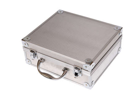 Toolbox, silver suitcase isolated on white Stock Photo - 6079961