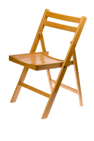 wooden folding chair isolated on white Stock Photo - 6102849