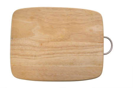chopping board isolated on a white  photo