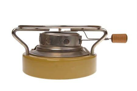 primus: isolated on white - camping oil stove Stock Photo