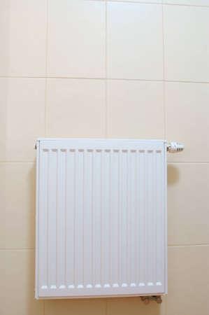 Radiator adjustment closeup. adjusting radiator temperature.