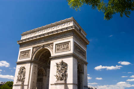 Arc the Triomphe, Paris Blue sky