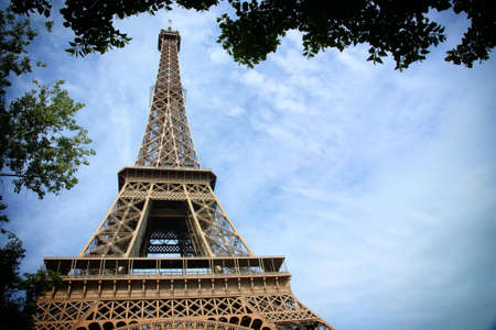 french Paris - Eiffel Tower, architecture construction photo