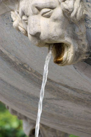 Decorative close-up of an elegant fountain, Neptune detail, Gdansk, Danzing, Poland  photo