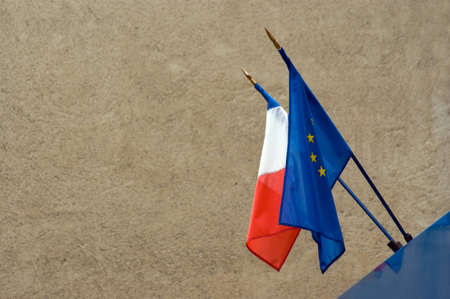 flag of France and european union photo