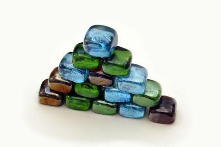 Coloredglass pyramid Stock Photo