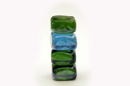 Colored glass cubes Stock Photo - 1997146