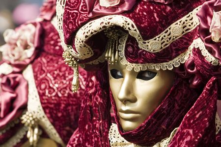 Professional masks Ive seen during the carnival held in Venice in Italy, February 2009. Stock Photo