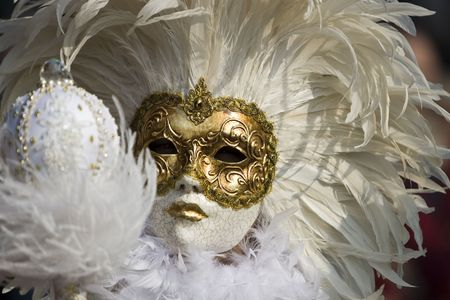 Professional masks ive seen durring the carnival held in venice in intaly, february 2009. photo