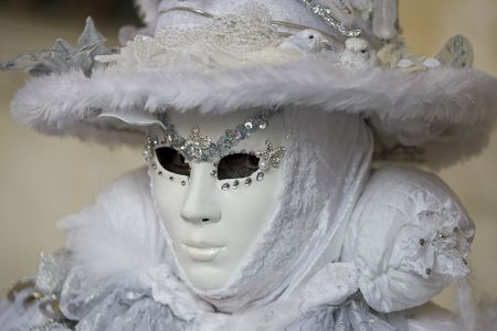 Professional masks Ive seen during the carnival held in Venice in Italy, February 2009. photo