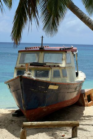 beached: A beached boat