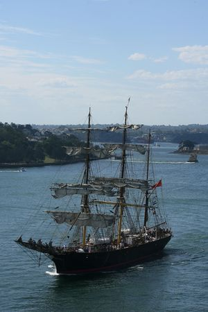 tall ship: Tall ship in Sydney Harbour