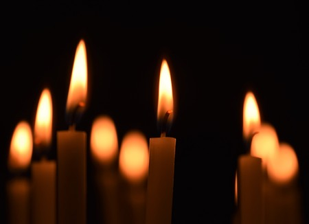 Candle Light, All Souls Day Stock Photo