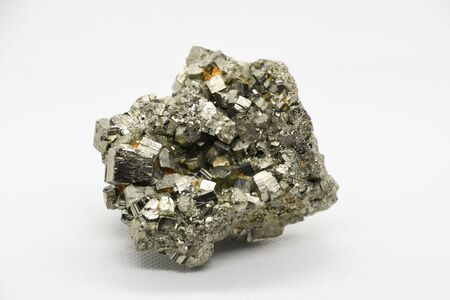 Pyrite crystal close-up, sulfide mineral Stock fotó