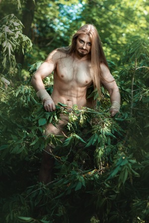 solitariness: European man living in the woods like a wild people.