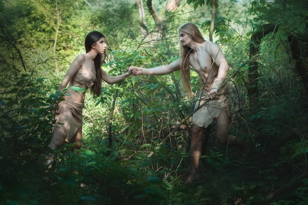 neanderthal women: White people began to live in the forest like savages.