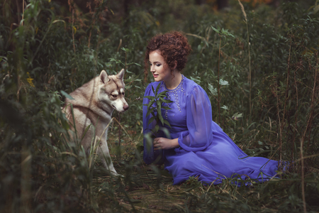 dearness: Girl says the dog tale, they are in the fairy forest.