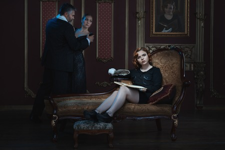 tyrant: Woman writer writes a novel about a young girl and an old man.